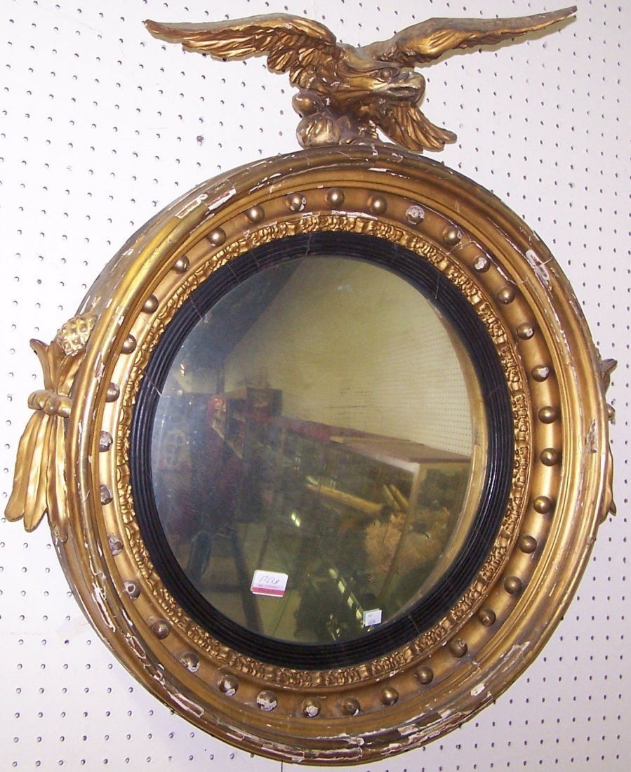 *19TH C. FEDERAL WALL MIRROR