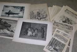 GROUP OF ORIGINAL CIVIL WAR ERA LITHOGRAPHS, PHO