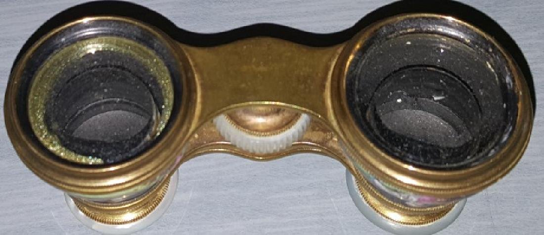 *PAIR OF ENAMEL AND BRASS OPERA GLASSES - 6