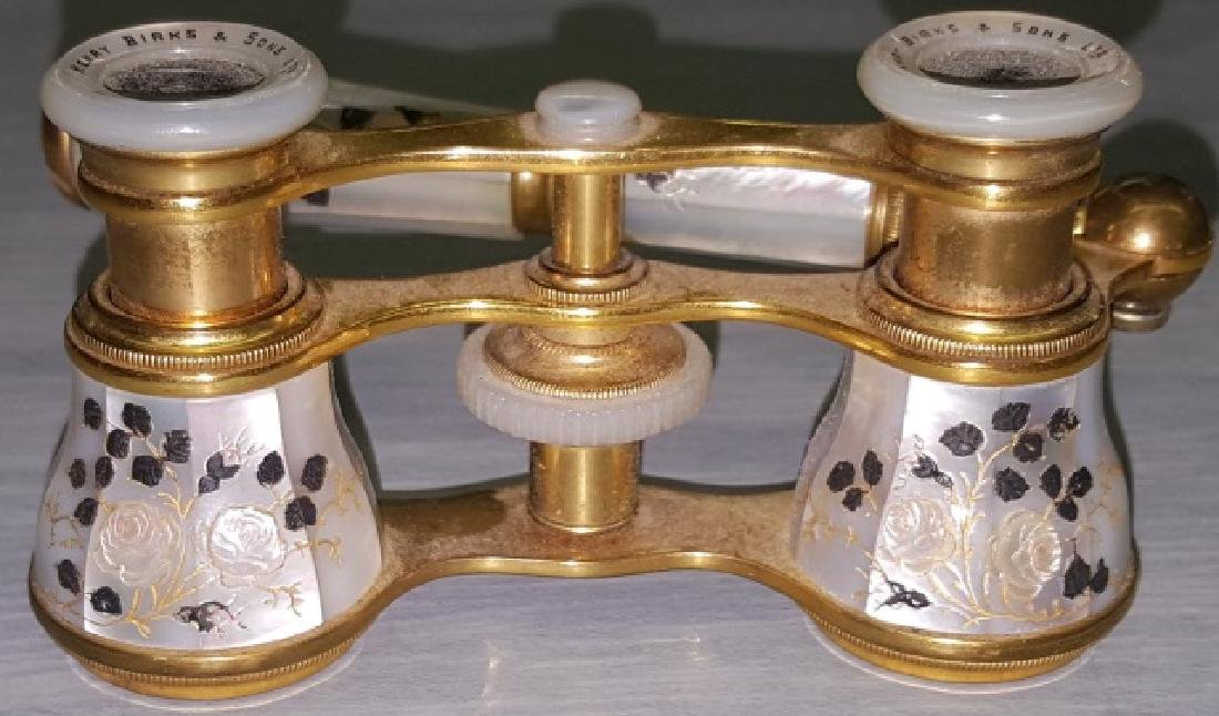*PAIR OF BRASS AND MOTHER-OF PEARL OPERA GLASSES