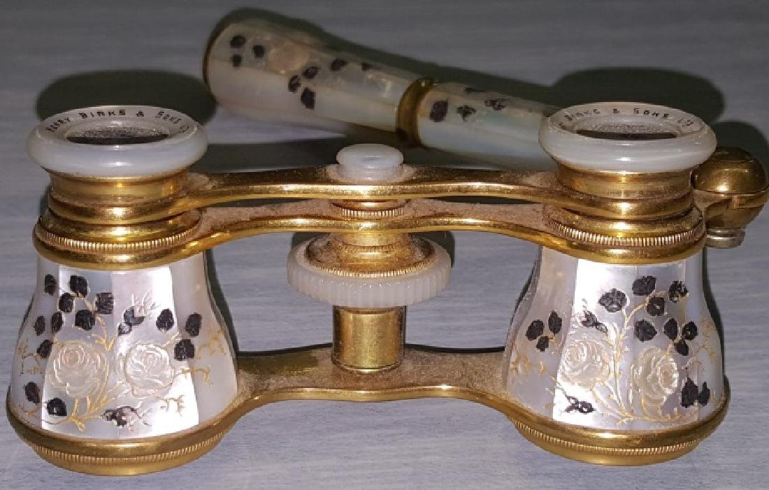 *PAIR OF BRASS AND MOTHER-OF PEARL OPERA GLASSES - 2