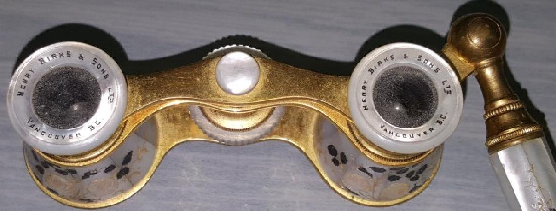 *PAIR OF BRASS AND MOTHER-OF PEARL OPERA GLASSES - 7
