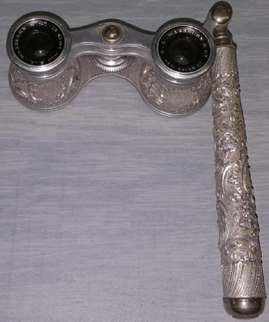 *PAIR OF RARE ALUMINUM OPERA GLASSES