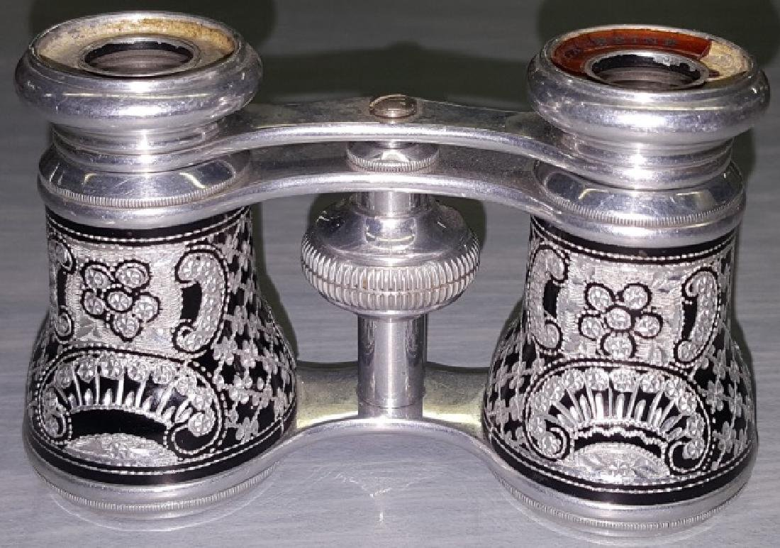 *PAIR OF ALUMINUM OPERA GLASSES