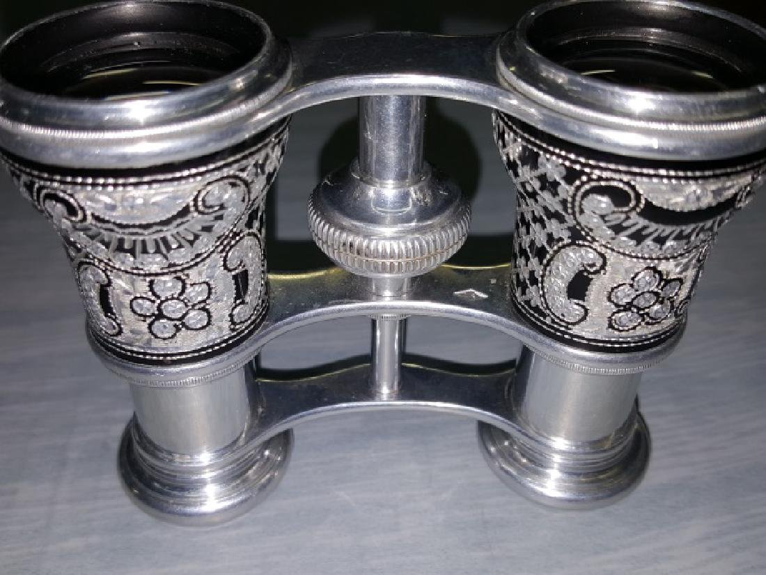 *PAIR OF ALUMINUM OPERA GLASSES - 5
