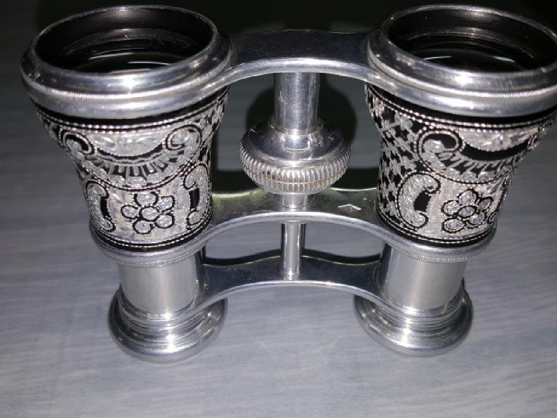 *PAIR OF ALUMINUM OPERA GLASSES - 6