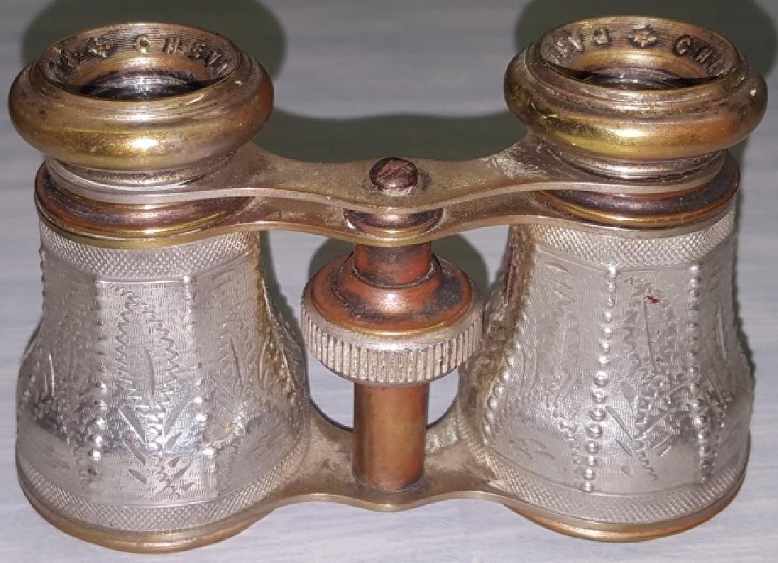 *PAIR OF ALUMINUM OPERA GLASSES - 5
