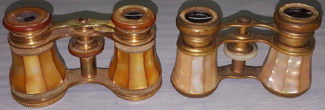 *2 PAIR OF MOTHER-OF-PEARL OPERA GLASSES