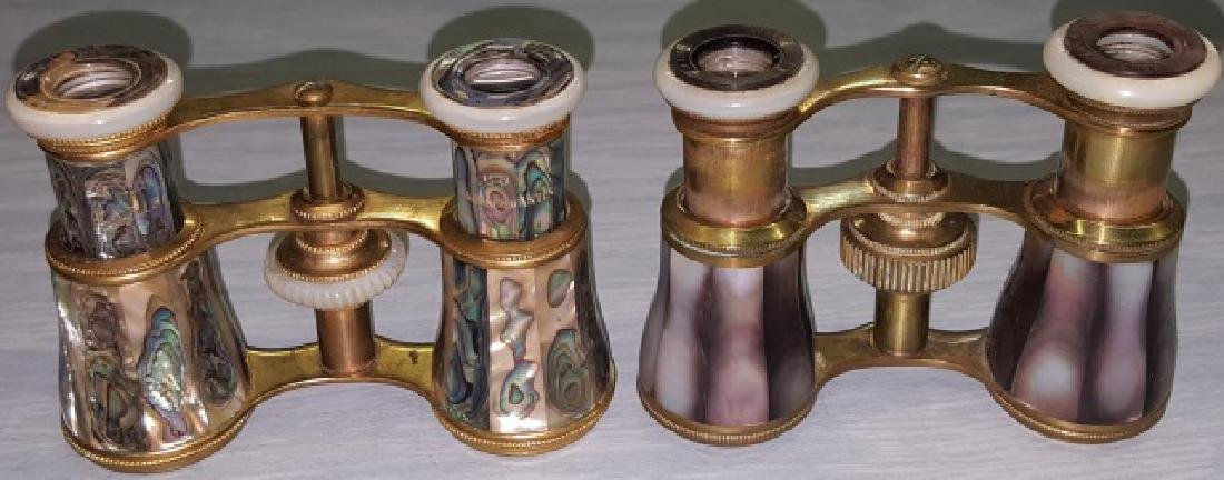 *2 PAIR OF MOTHER-OF-PEARL OPERA GLASSES - 2
