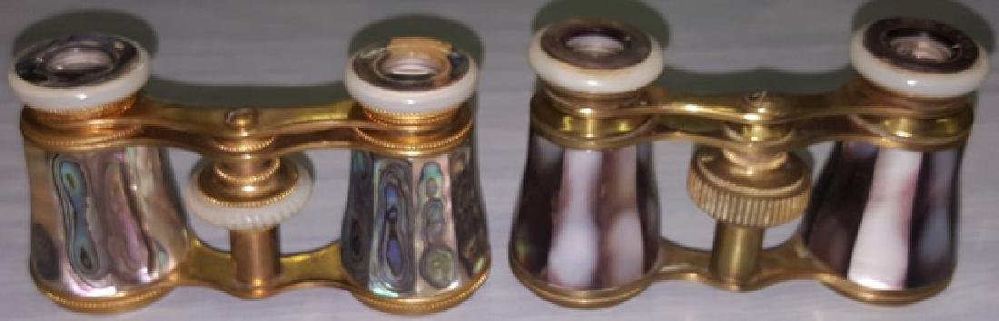 *2 PAIR OF MOTHER-OF-PEARL OPERA GLASSES - 5