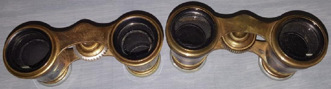 *2 PAIR OF MOTHER-OF-PEARL OPERA GLASSES - 7