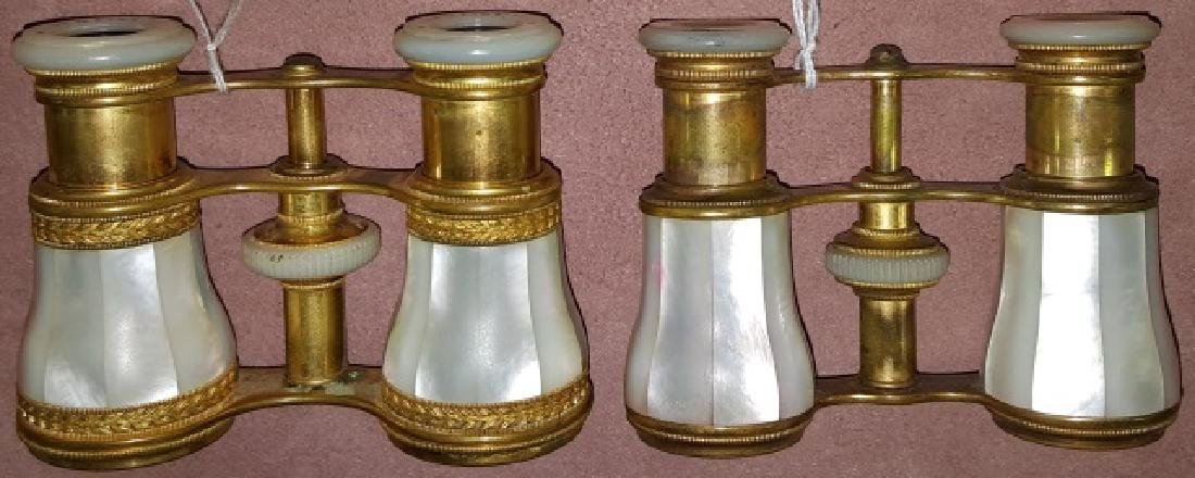 *2 PAIR OF MOTHER-OF-PEARL OPERA GLASSES - 3