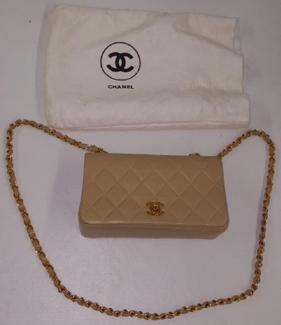 *CHANEL MINIATURE QUILTED LEATHER SHOULDER BAG
