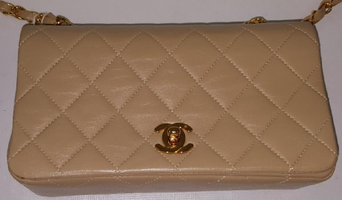 *CHANEL MINIATURE QUILTED LEATHER SHOULDER BAG - 2