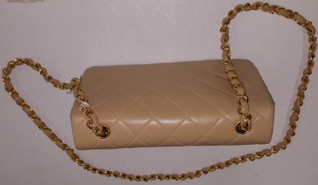 *CHANEL MINIATURE QUILTED LEATHER SHOULDER BAG - 3
