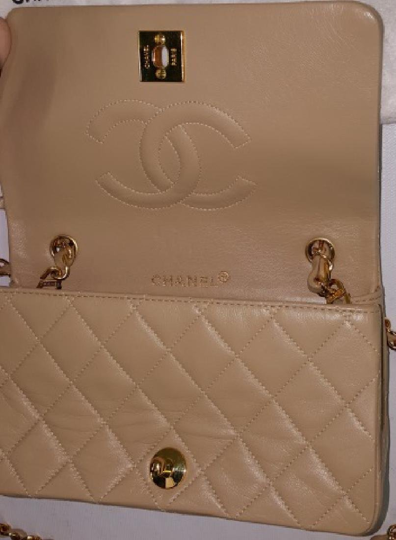 *CHANEL MINIATURE QUILTED LEATHER SHOULDER BAG - 4
