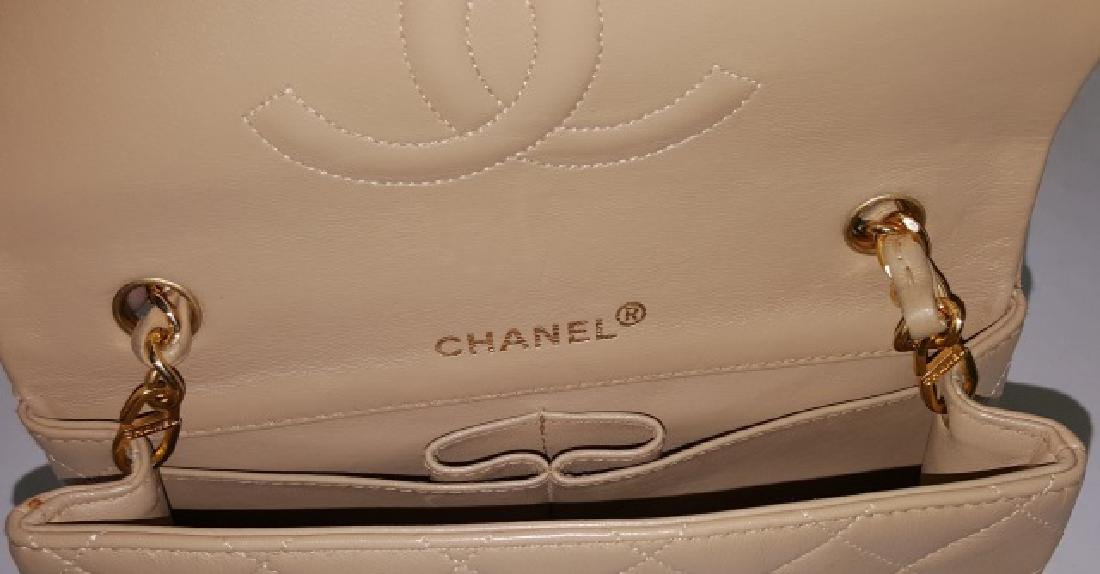 *CHANEL MINIATURE QUILTED LEATHER SHOULDER BAG - 5