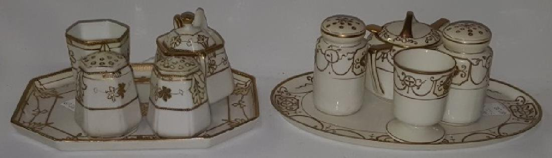 *2 NIPPON PORCELAIN CONDIMENT SETS - 2