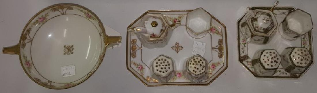 *2 NIPPON PORCELAIN CONDIMENT SETS - 3
