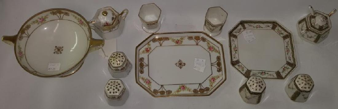 *2 NIPPON PORCELAIN CONDIMENT SETS - 4