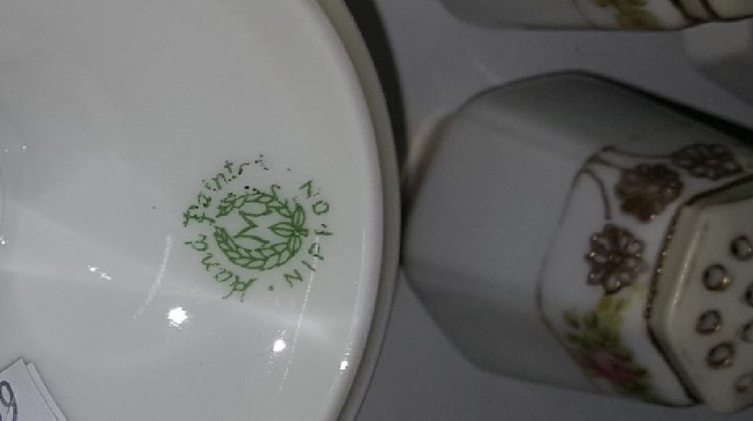 *2 NIPPON PORCELAIN CONDIMENT SETS - 6