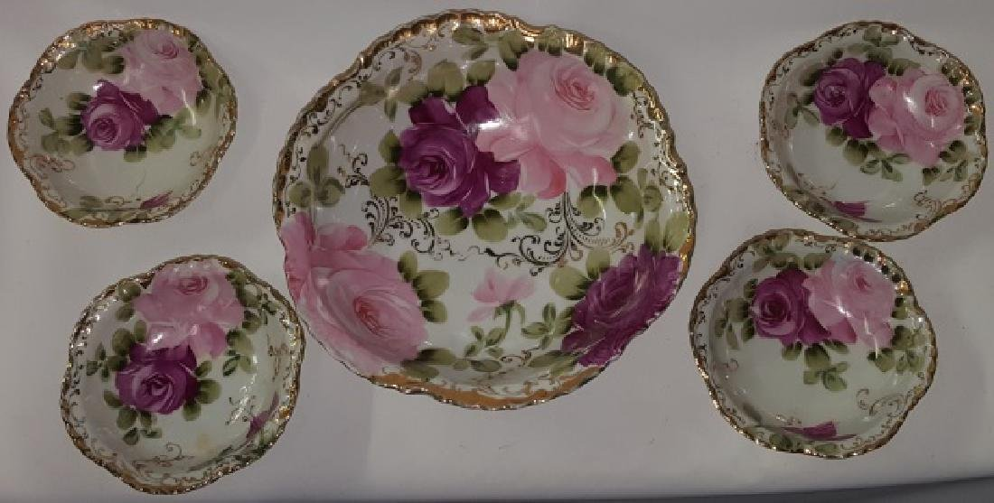 *5-PIECE NIPPON PORCELAIN BERRY SET
