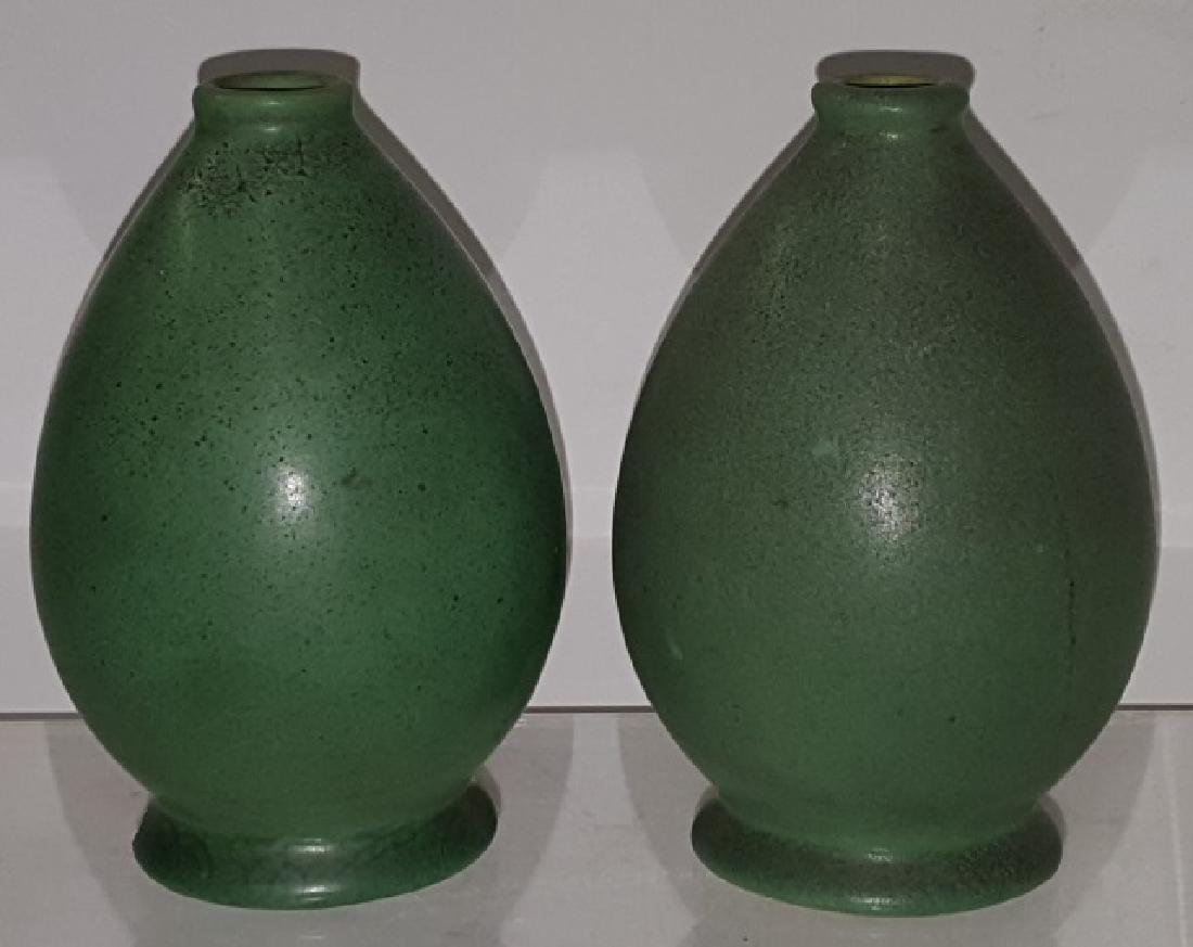 *2 TECO ART POTTERY VASES
