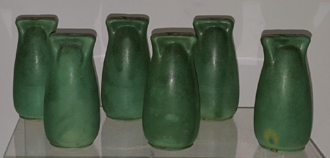 *6 TECO ART POTTERY VASES
