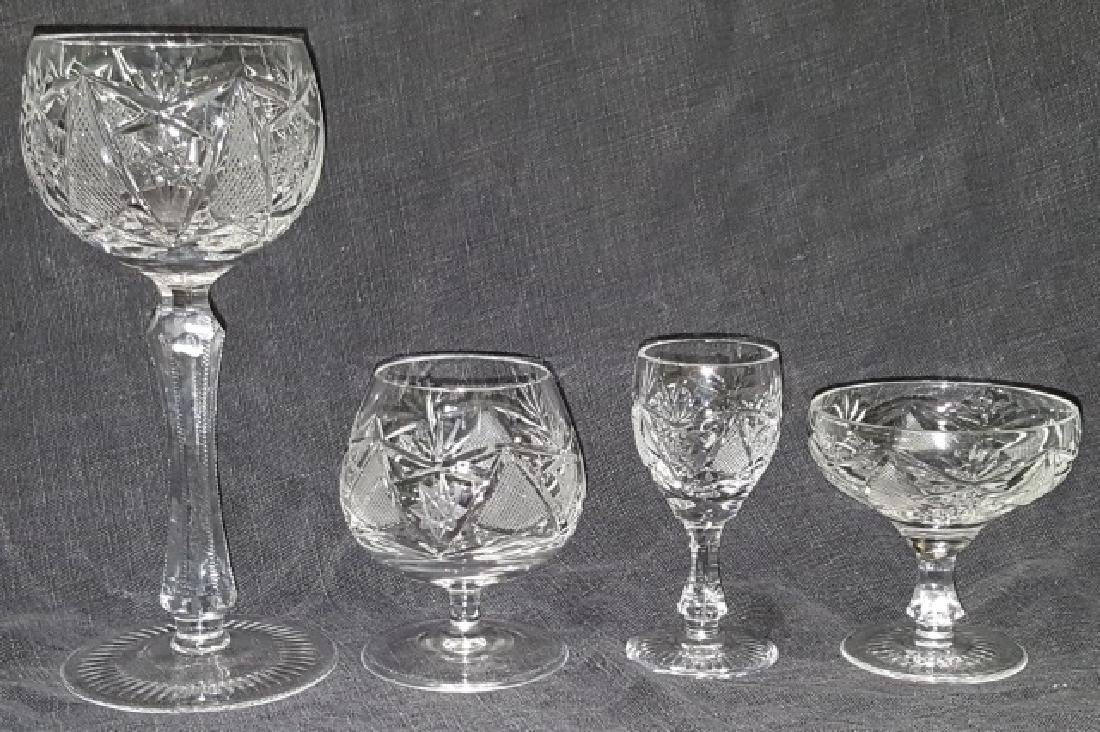 *GROUP OF CUT GLASS STEMWARE