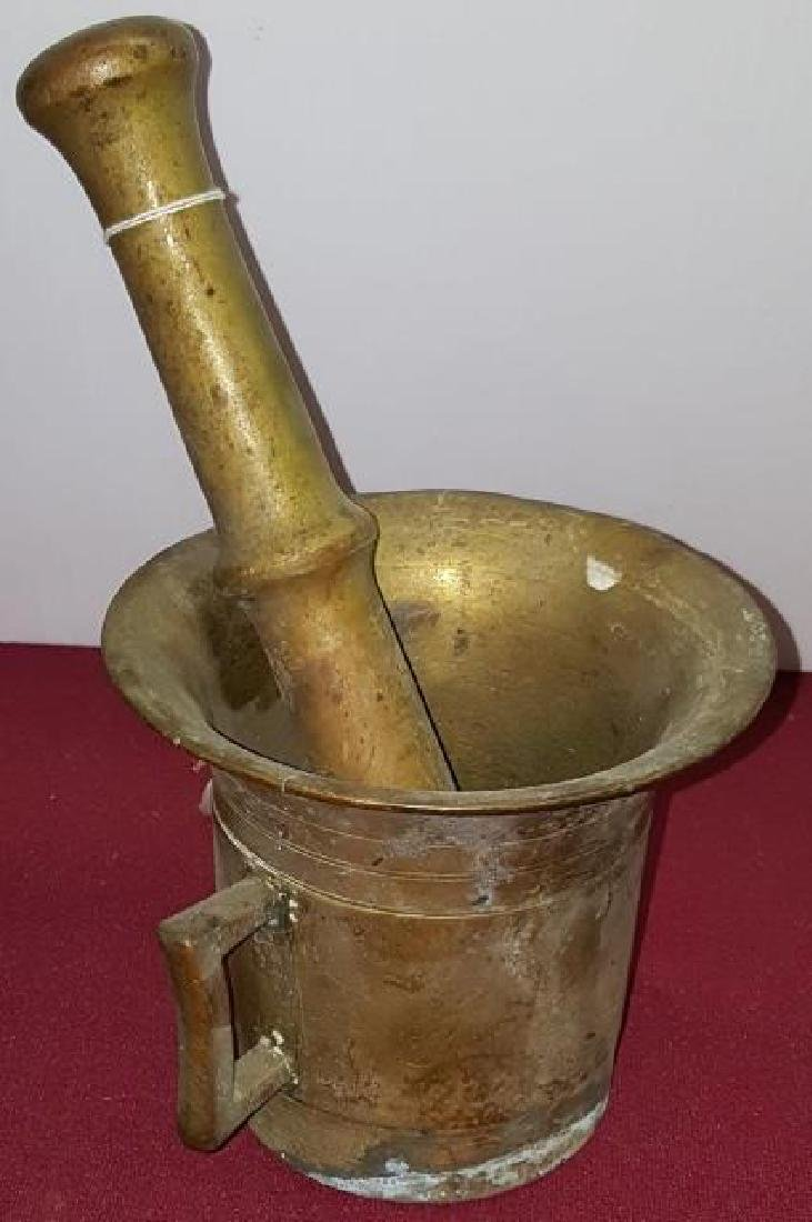 BRONZE MORTAR AND PESTLE
