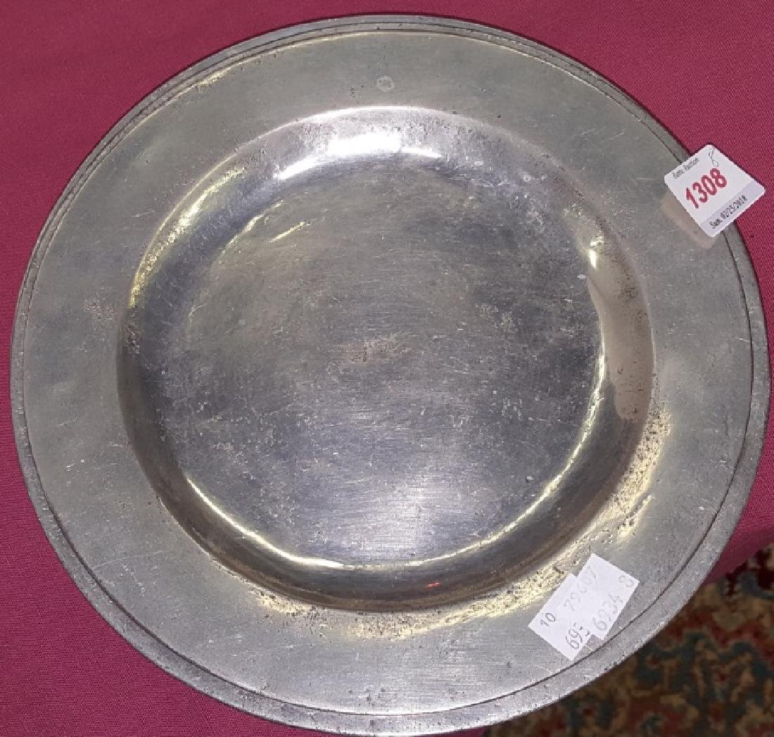 *8 PEWTER SERVICE PLATES