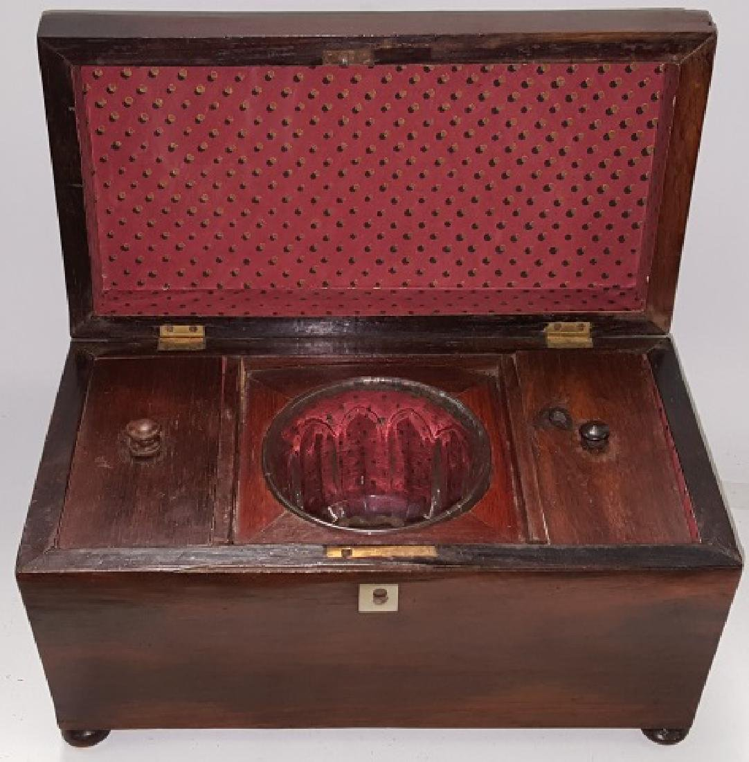 *EARLY 19TH C. ROSEWOOD TEA CADDY - 2