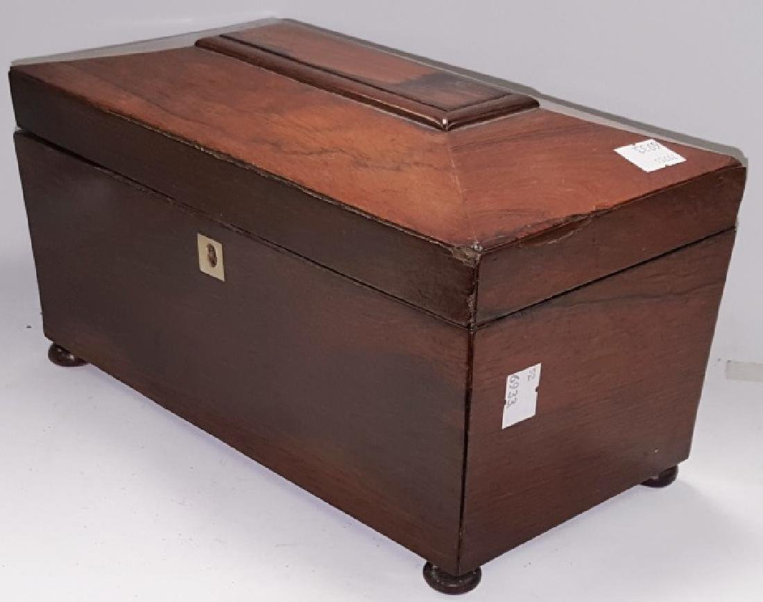 *EARLY 19TH C. ROSEWOOD TEA CADDY - 4