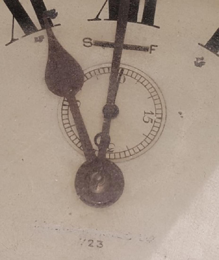*19TH C. BRASS AND WOOD SHIP'S CLOCK - 3