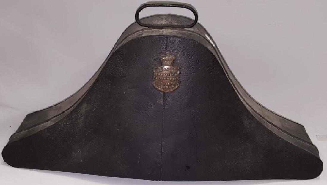 *MID 18TH C. BICORN NAVY HAT - 2
