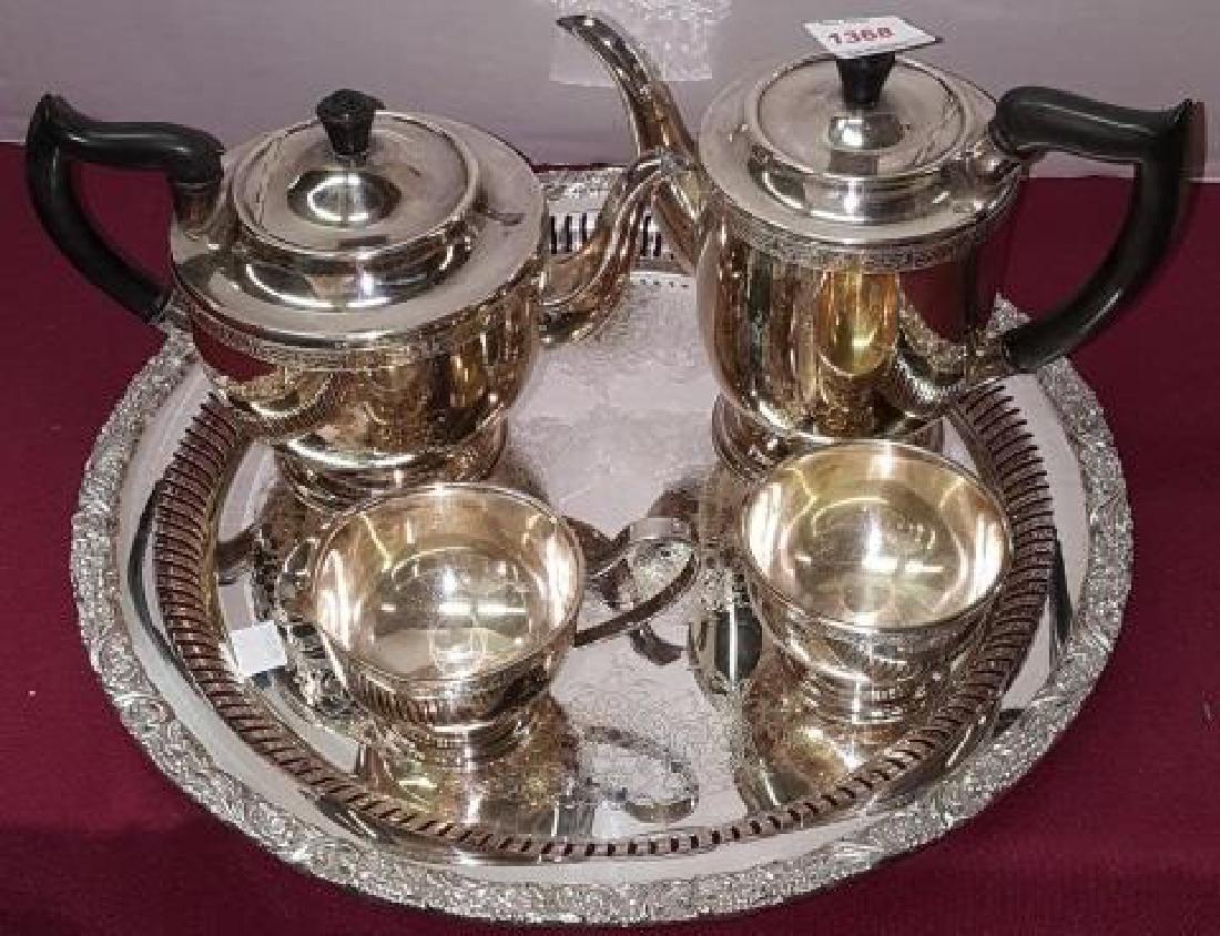 *5-PIECE SILVERPLATE COFFEE AND TEA SERVICE