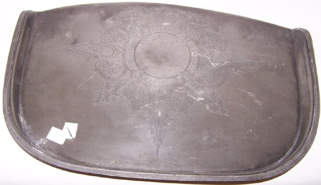 PEWTER HIGHCHAIR TRAY
