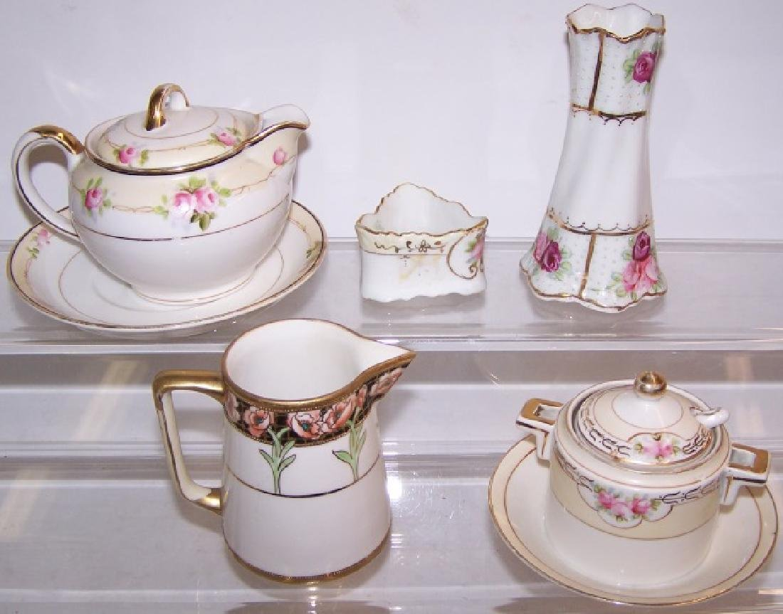 *5 PIECES OF HANDPAINTED NIPPON PORCELAIN