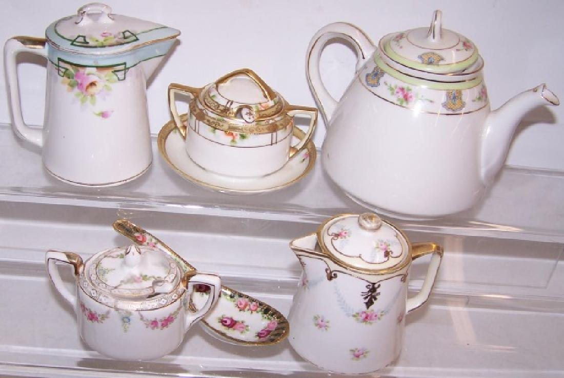 *6 PIECES OF HANDPAINTED NIPPON PORCELAIN