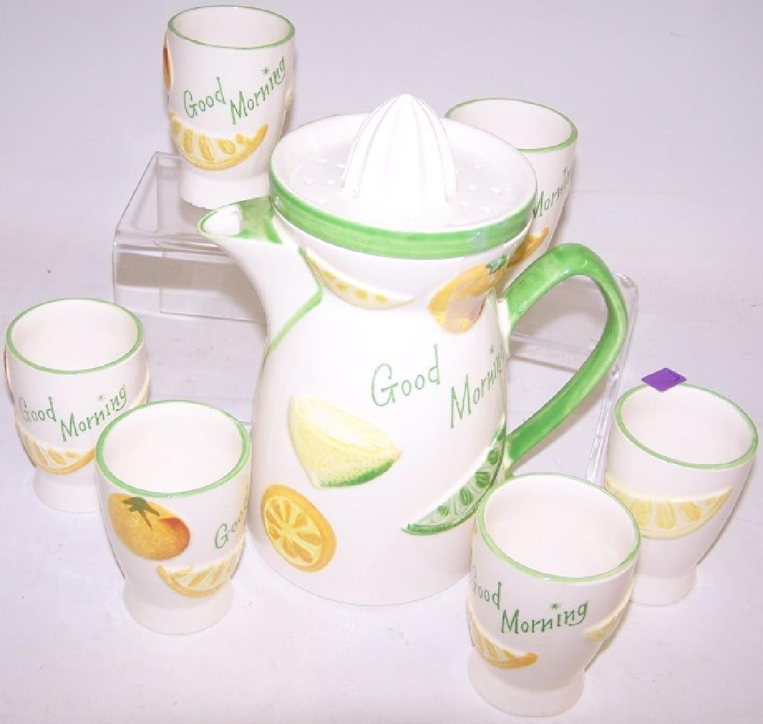 *7-PIECE CERAMIC JUICE SET