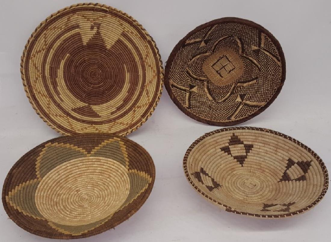 *4 NATIVE AMERICAN WOVEN BASKETS