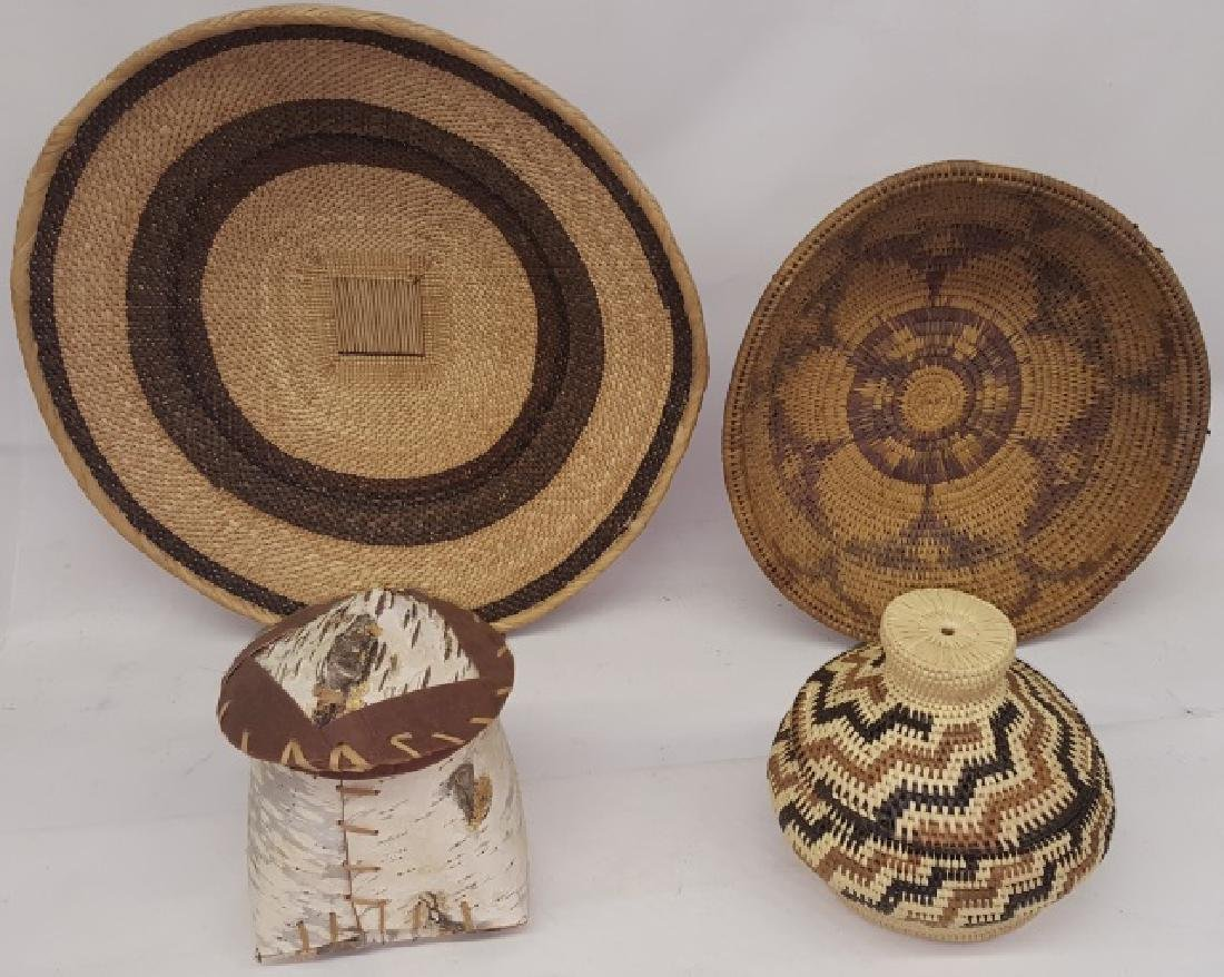 *4 NATIVE AMERICAN BASKETS