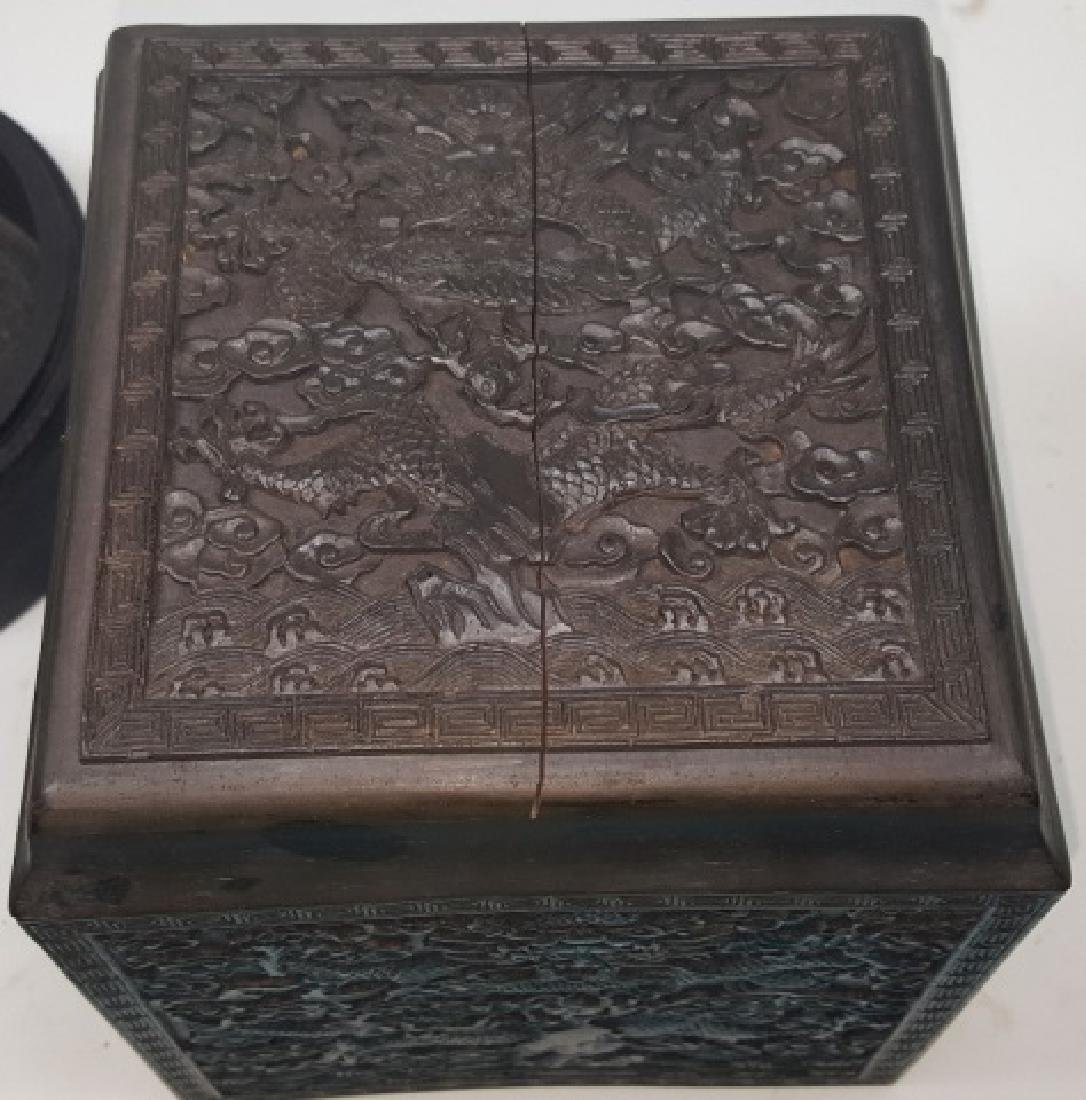 *2 PIECES OF CHINESE CARVED WOOD - 3