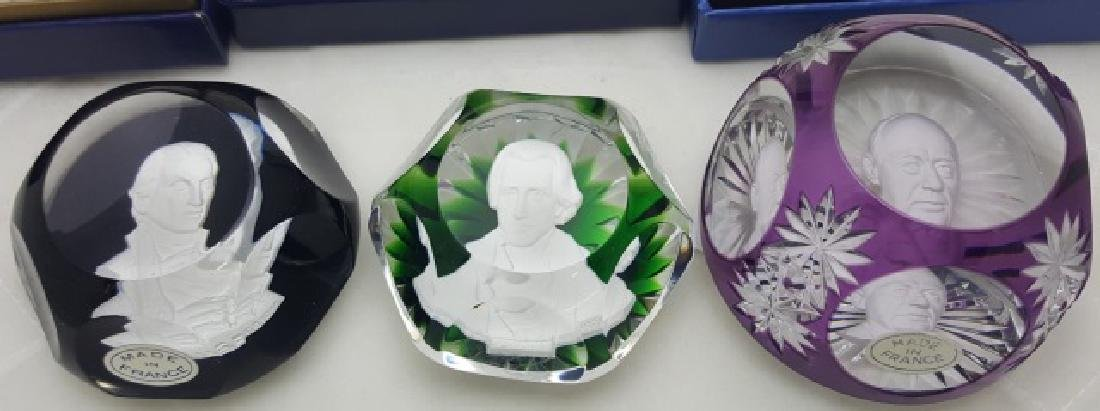 *3 BACCARAT PAPERWEIGHTS
