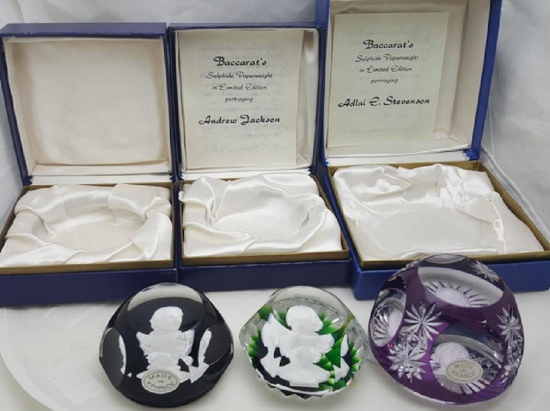 *3 BACCARAT PAPERWEIGHTS - 2