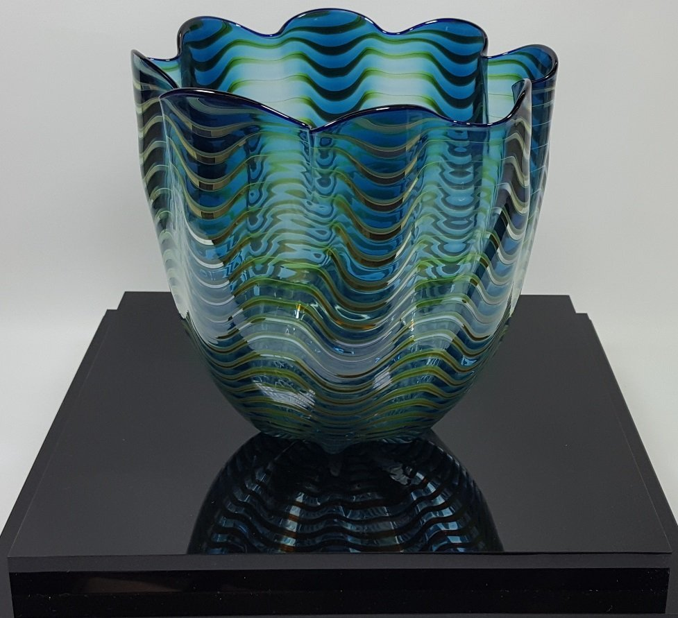 *DALE CHIHULY ART GLASS BASKET
