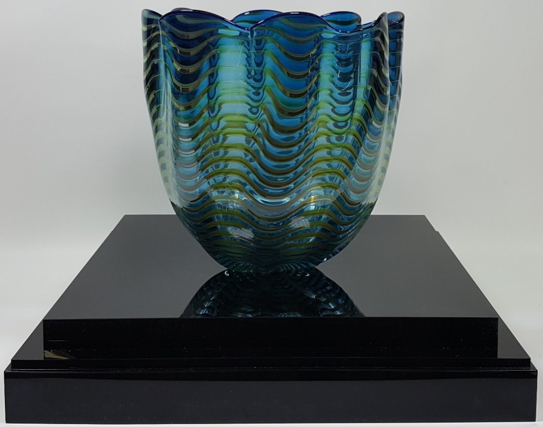 *DALE CHIHULY ART GLASS BASKET - 2