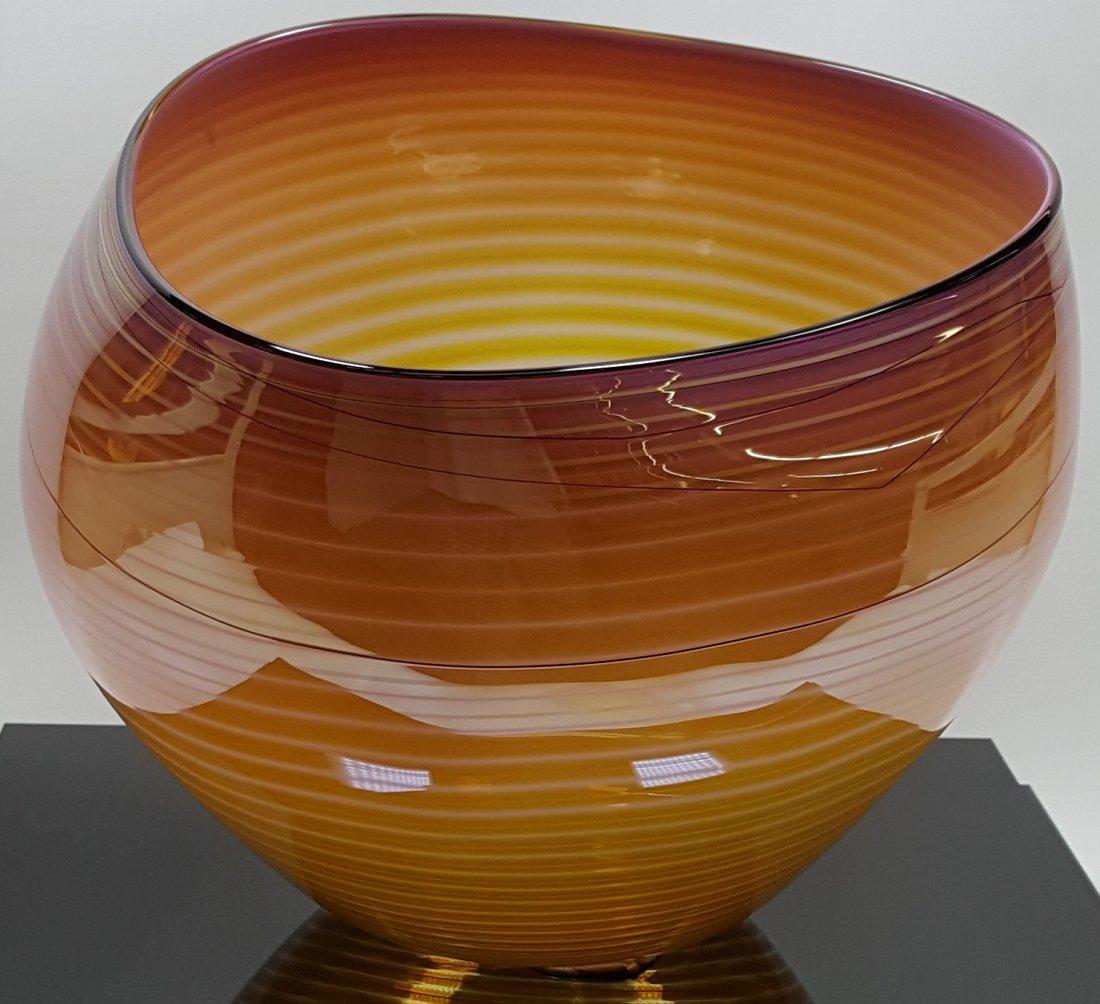 *DALE CHIHULY ART GLASS BASKET - 2