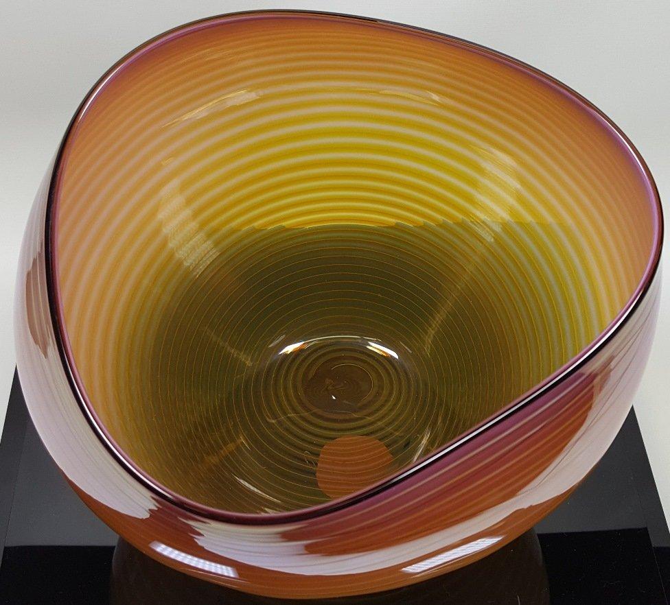 *DALE CHIHULY ART GLASS BASKET - 3