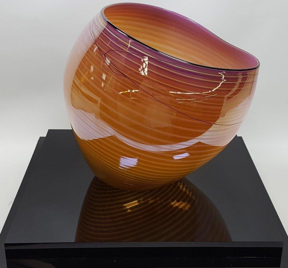 *DALE CHIHULY ART GLASS BASKET - 4